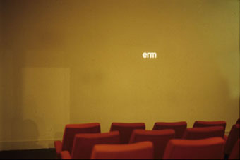 Shadows; Jonathan Miles, Lecture Theatre One, Royal College of Art, November 1997